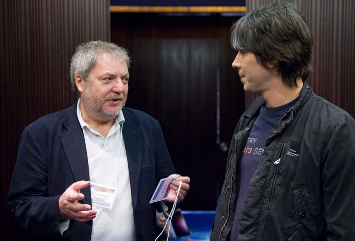 Paul Sutherland with Brian Cox