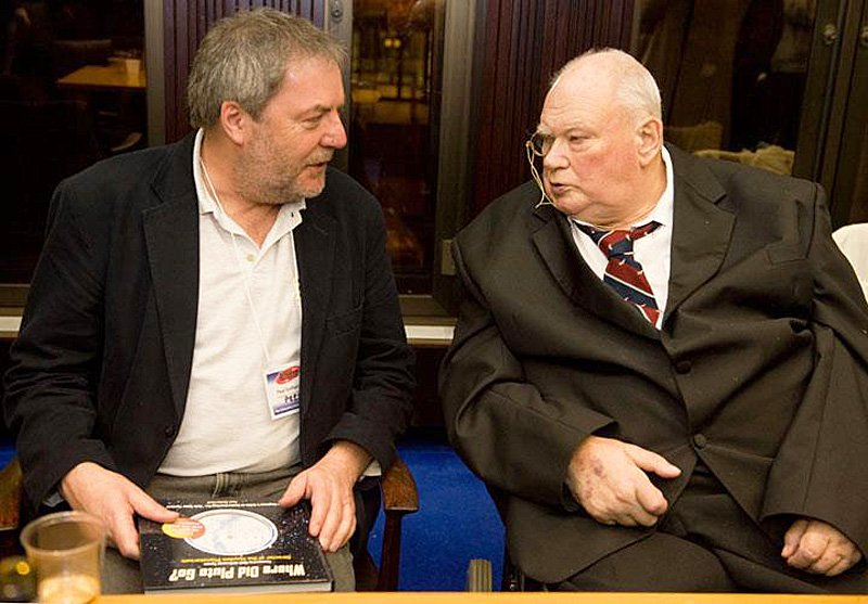 Paul Sutherland with Sir Patrick Moore